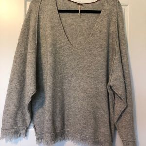 Free People Fray hem sweater